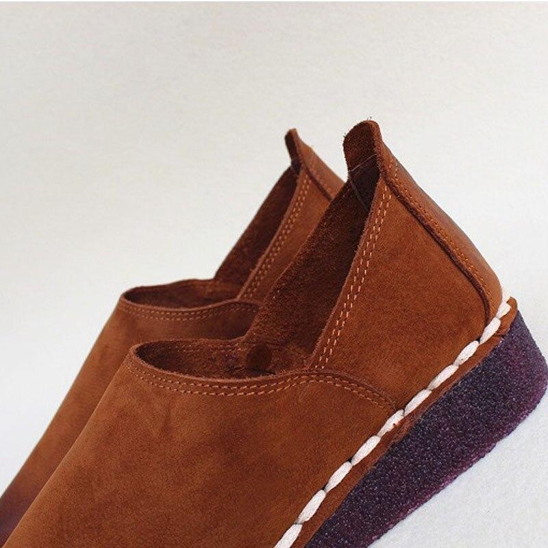 여성 플랫 신발 슬립 oxfords 100% 정품 가죽 여성 스 니 커 즈 봄/가을 숙 녀 플랫 신발 (2019 2)-에서여성용 플랫부터 신발 의  그룹 3