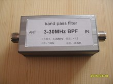 BPF-3-30 3-30MHz bandpass filter BPF LC to improve selective signal-to-noise ratio