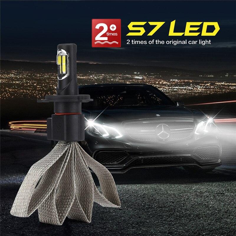 Super Bright H4 Car LED Headlight Fog Light Bulbs H4 LED Pure White Color Temperature 6000K S7 Auto Lamp Car Styling Lamp Bulbs 90w h4 car led headlight super bright