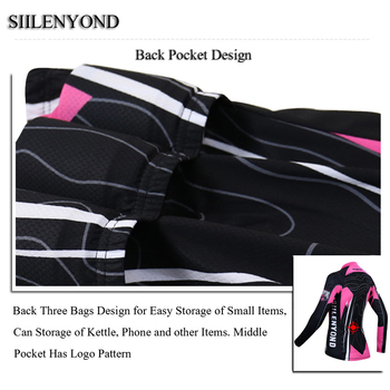 Siilenyond 2019 Women Pro Winter Thermal Cycling Jersey Long Sleeve Mountain Bicycle Cycling Clothing MTB Bike Cycling Clothes 4