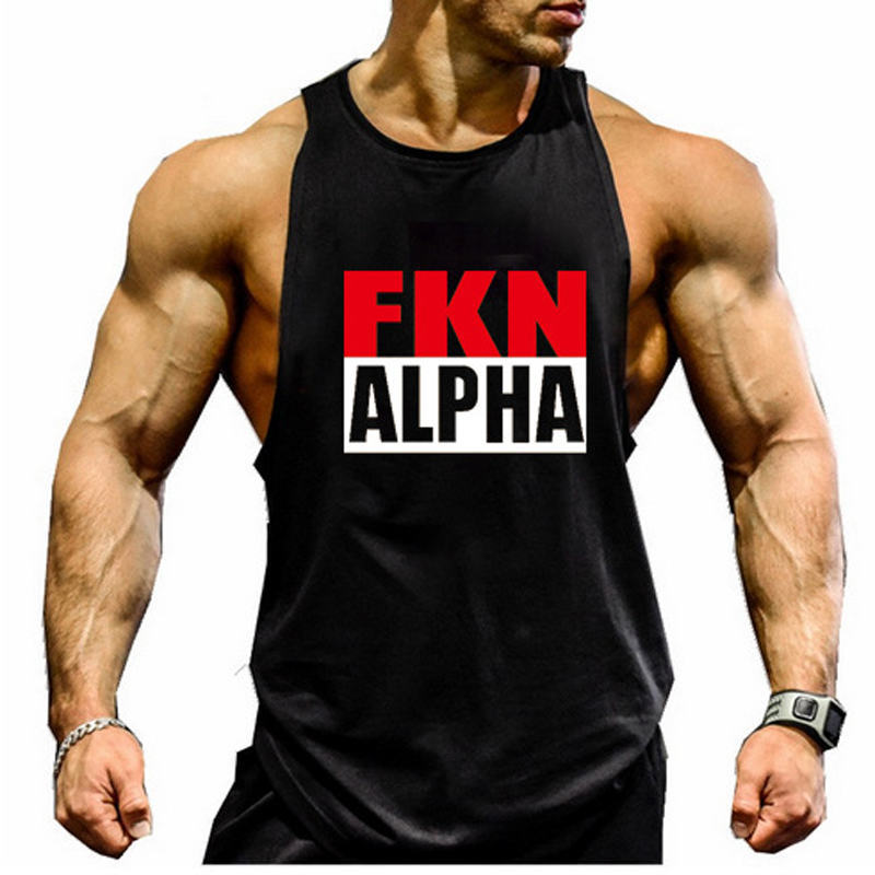 nine bull Mens Gym Workout Tank Top Muscle Stringer Bodybuilding Fitness T-Shirts Tops 2 Pack