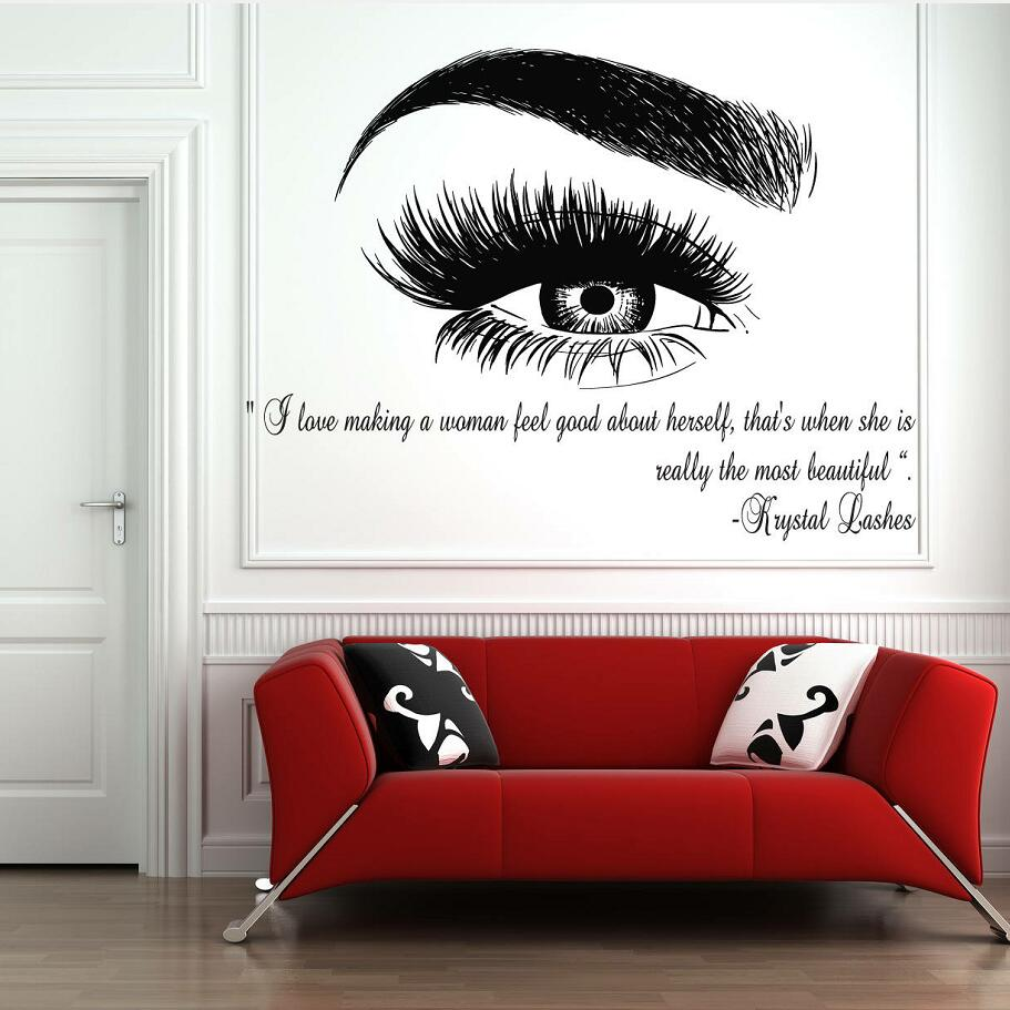 Eyelashes Lashes Eyebrows Wall Stickers Brows Beauty Salon
