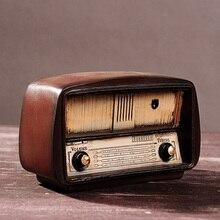 Vintage Radio artesanía Retro nostálgico adornos estilo europeo Regalo de Cumpleaños Bar accesorios resina Radio modelo antiguo imitación