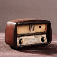 Vintage Radio Craft Retro Nostalgic Ornaments Europe Style Birthday Gift Bar Accessories Resin Radio Model Antique Imitation