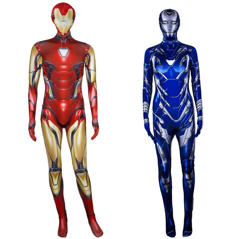 New Iron Man Costume Iron Women Costume Avenger Endgame Cosplay Pepper Potts Rescue Suit Halloween Costume For Adult Kids