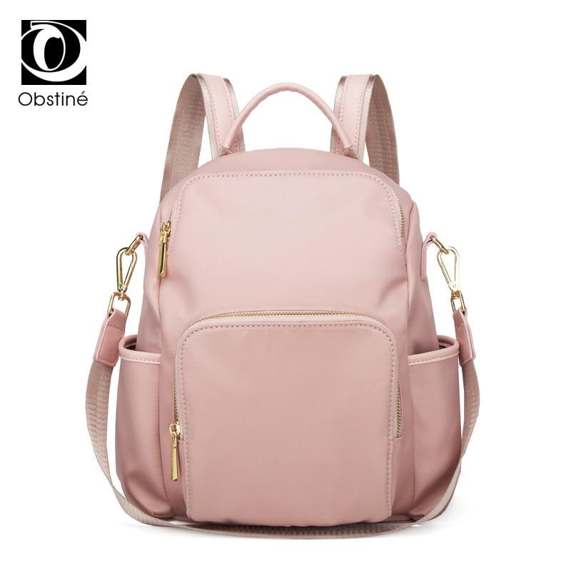 Fashion Antitheft Backpack Female Oxford Pink Backpacks Luxury Bagpack Women Back Pack for School Bags Girls