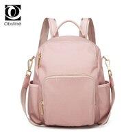 Fashion Antitheft Backpack Female Oxford Pink Backpacks Luxury Bagpack Women Back Pack for School Bags Girls Schoolbag