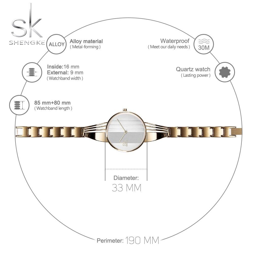 Image 5 - Shengke Creative נשים שעונים צמידי גבירותיי שעוני יד צמיד קוורץ שעון נשים Montre Femme Relogio Feminino 2018שעונים לנשיםשעונים -