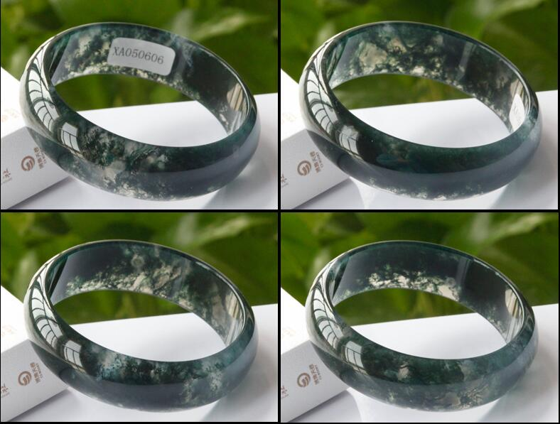 Yu Po Widened And Rich Wealth Style Xian Furong Jade Bracelet Natural A Goods Lantian Jade Pith Bracelet Strong Packing Bracelets & Bangles