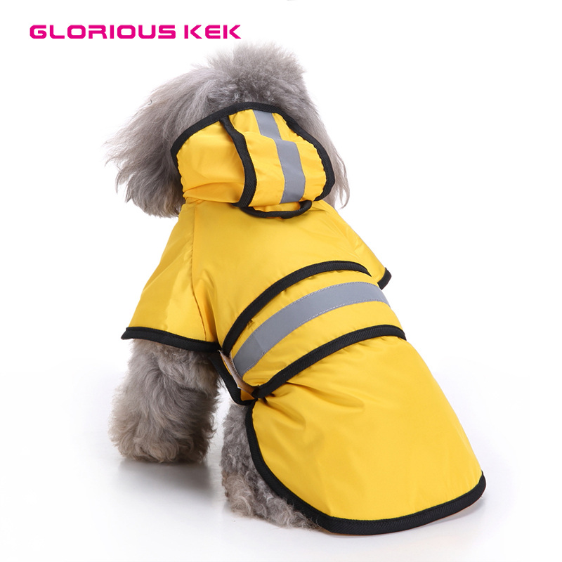 Vizbrite Dog Raincoat Waterproof Windproof Dog Jacket with Comfortable Fleece Reflective Line Dog Cloth Apparel for Small Medium Large Dogs