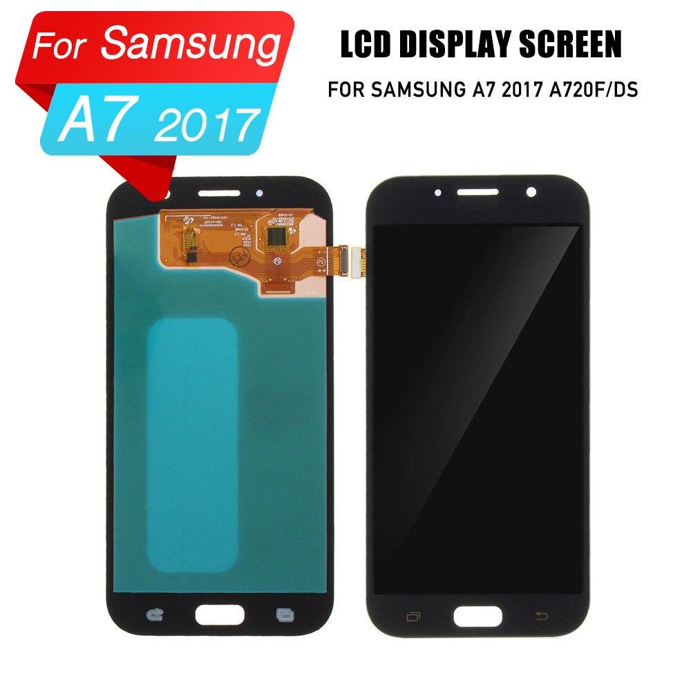 PrepairP LCD écran pour samsung galaxy A7 2017 affichage écran numériseur assemblée pour samsung A7 A720 A720F A720F/ds AFFICHAGE lcd