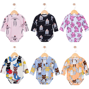 TinyPeople 2020 new catan Cartoon newborn Bodysuit Baby Boys Clothes Girls spring Autumn Cotton clothing kids infant Jumpsuit(China)