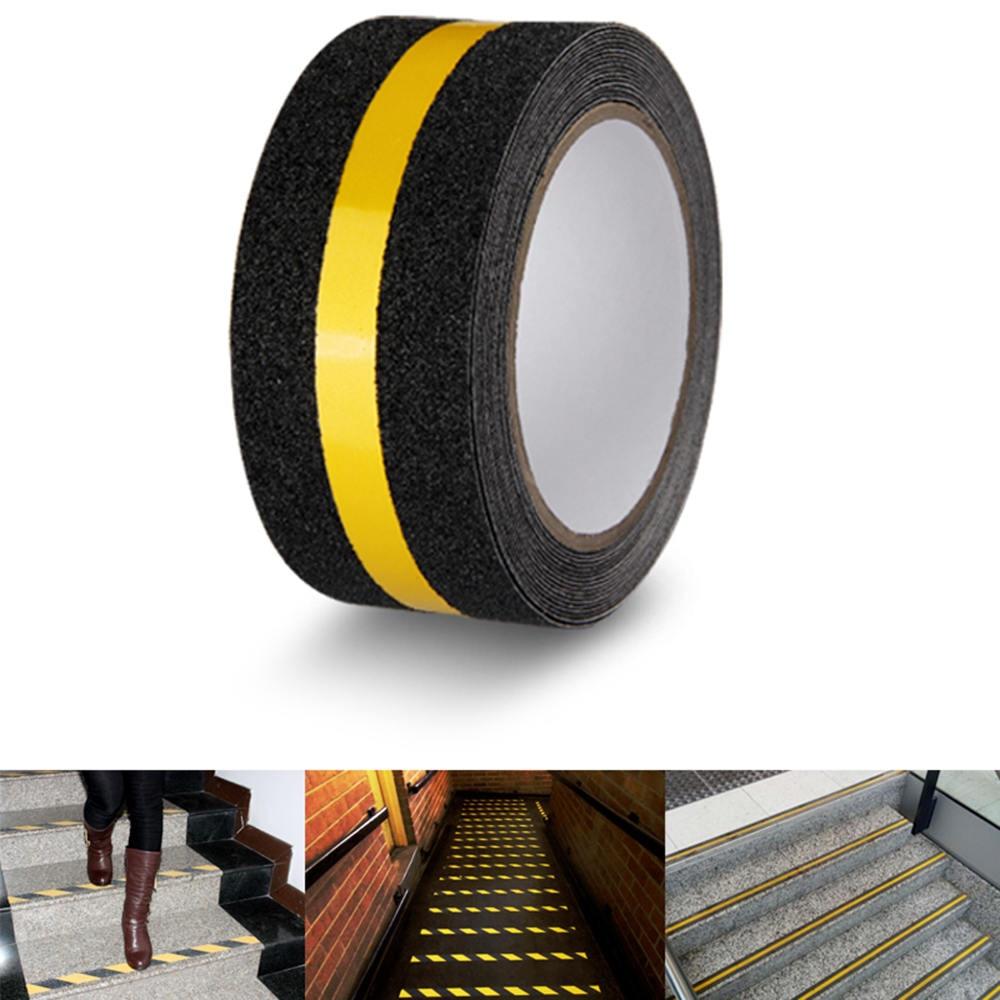 5M Black Safety Tread Anti-slip Non skid Strips Grip Tape Self Adhesive Sticker