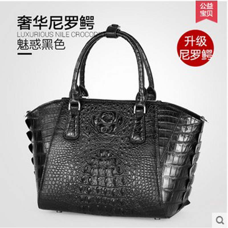 2018 gete new hot free shipping import Thailand skin really crocodile women handbag luxury women bag