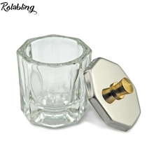 Rolabling Glass Dish Nail Art Liquid Holder Container Nail Art Tools Nail Art Equipment Mini Bowl Cups