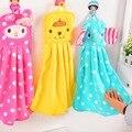 1 peça de flanela Super macio crianças toalha de mão colorido bonito de toalha para cozinha e banheiro