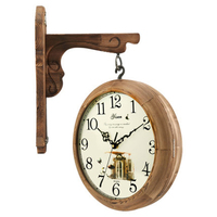 Wood Europe Style Hanging Vintage Clock Wall Mechanism Classical Large Decorative Antique Reloj Pared Vintage Mural Home Clocks