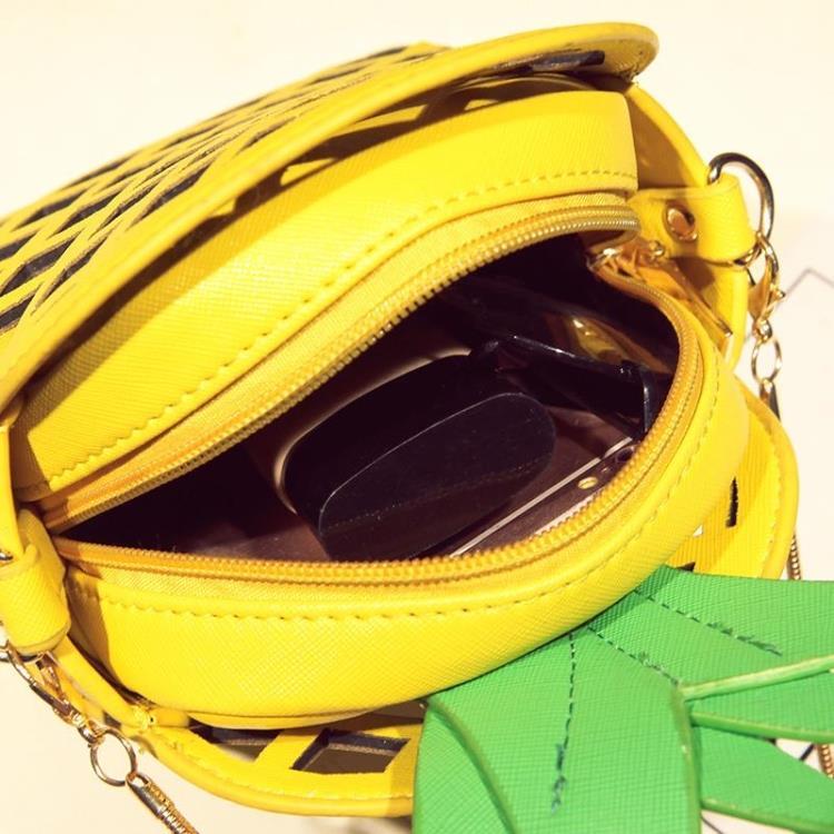 2017 bolso de cuero lindo para las mujeres encantadora piña chica - Bolsos - foto 4
