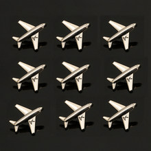 Airplane Brooch Pin for Man Jewelry Men Suit Brooches Smiley face Maple leaf Number 5 butterfly Brooch Alloy Aircraft Women Pins(China)