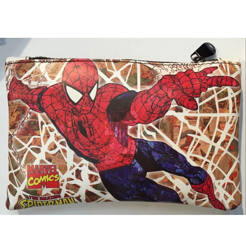 DC Marvel Comics Spider-man Purse Pen Pencil Stationery Wallet Leather Card Key Coin Money Bag Case Rectangle Zipper Wallets high grade carbide alloy 1 2 shank 2 1 4 dia bottom cleaning router bit woodworking milling cutter for mdf wood 55mm mayitr