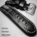 22 24 26 MM de Nuevo reloj de la correa de cuero, reloj de cuero Genuino correa de la banda Para Pam Reloj Big Pilot Militar reloj Shiping Libre