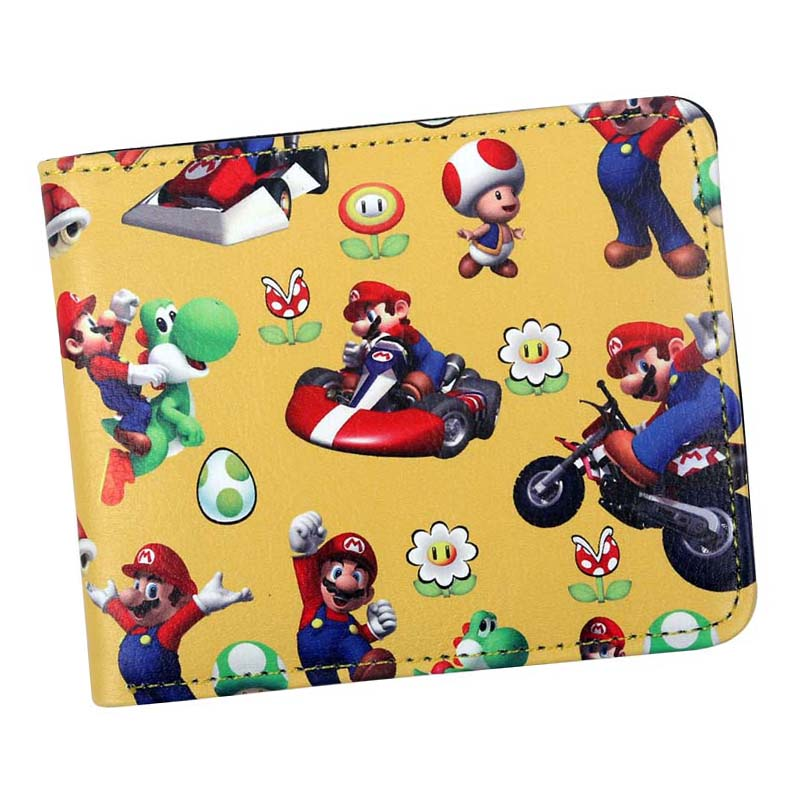 Short Wallet Hot-Selling Super-Mario-Bros Purses Credit-Card-Holder Character Cartoon