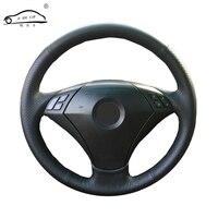 Genuine Leather car steering wheel Cover for BMW 530 523 523li 525 520li 535 545i E60/dedicated Steering Wheel Handlebar Braid