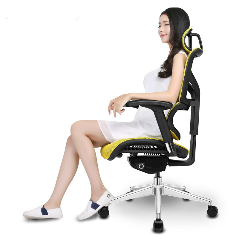 European Ergomax Commander Computer Ergonomic WCG Game Electric Mesh To Work In An Office Chair