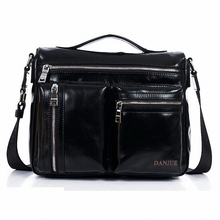 European and American Minimalist Style Men's Genuine Leather Messenger Shoulder Bag Satchel Cross Body Shoulder Bag LI-1315