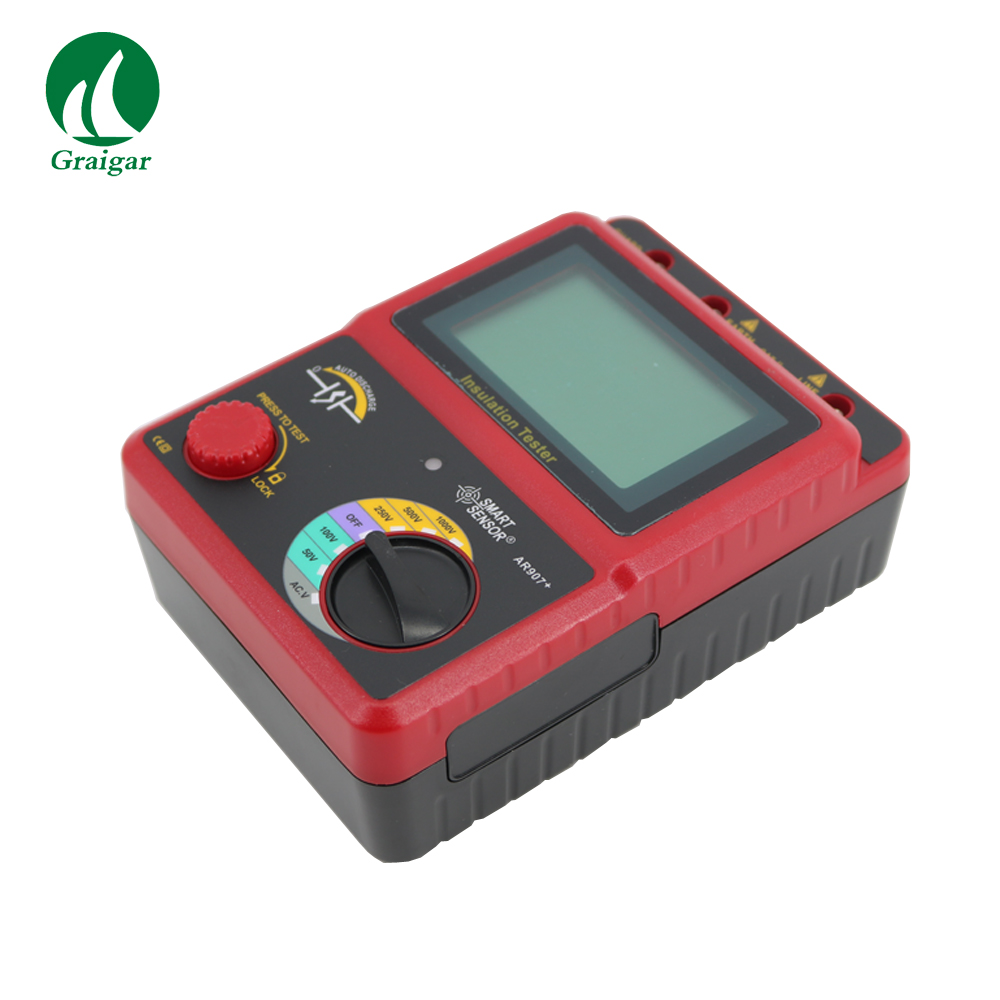 AR907+ Voltage Insulation Tester Meter 1000v Digital Insulation Resistance Tester цена