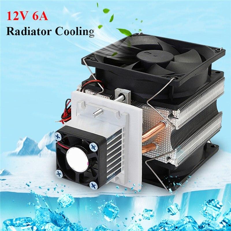 12 В в 5A процессор вентилятор охлаждения Cooler электронный полупроводниковый холодильник радиатор охлаждения фильм оборудование DIY алюминиев...