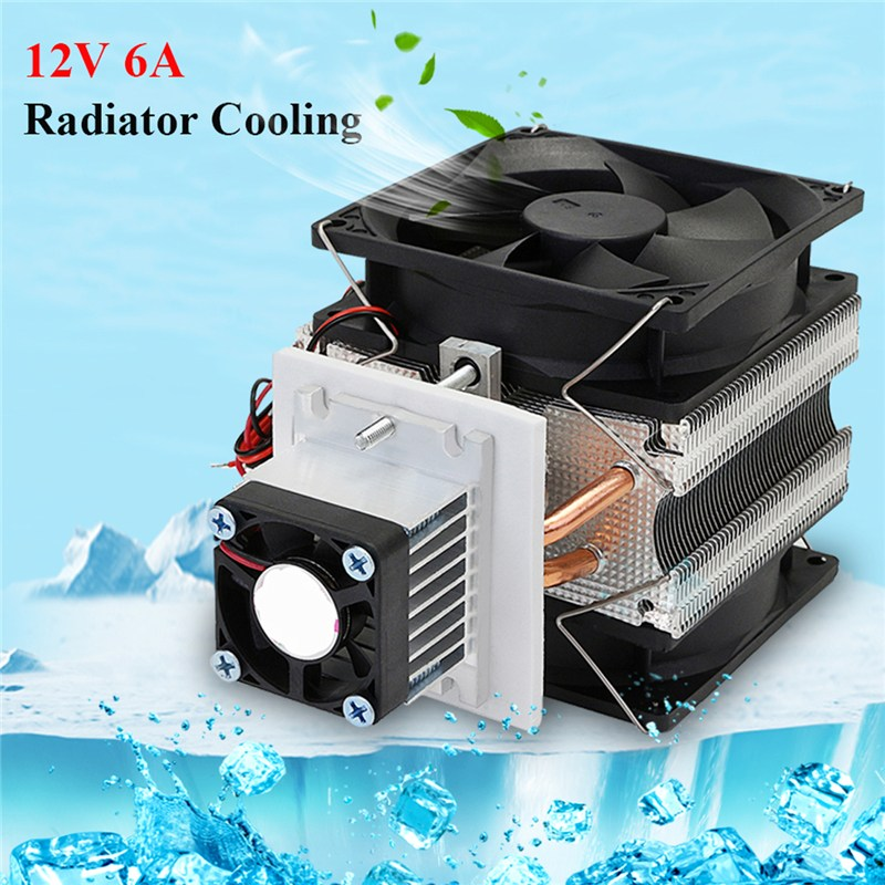 12V 5A CPU Cooling Fan Cooler Electronic Semiconductor Refrigerator Radiator Cooling Film Equipment DIY Aluminum Heatsink For PC hot 12v 6a diy electronic semiconductor refrigerator radiator cooling equipment