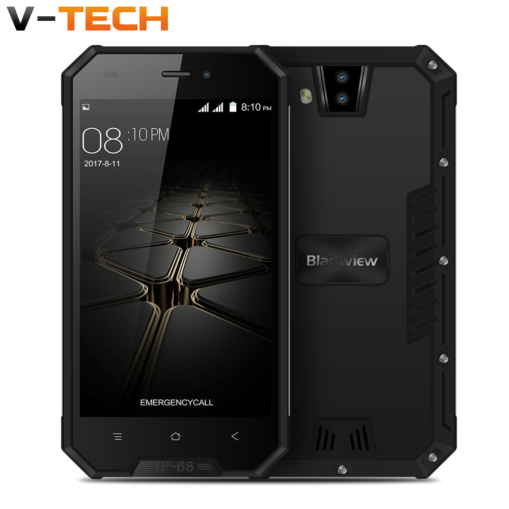 Blackview BV4000 Smartphone IP68 Waterproof MT6580A Quad Core 4.7 Inch Android 7.0 CellPhone 1GB RAM 8GB ROM 8.0MP Mobile Phone