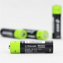 2 pcs 4 pcs ZNTER 1 5V 1250mAh USB Rechargeable AA Li Po font b Battery