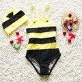 Bebé del traje de baño los niños y niñas del sol del verano traje de baño del bebé niñas baño de una piezas Maya la abeja infant toddler girl traje de baño