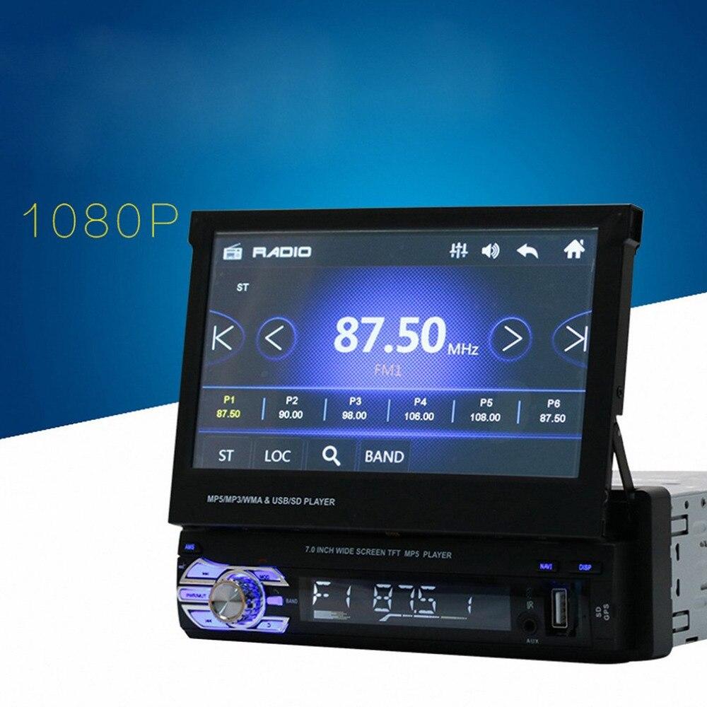 Новейший Универсальный 7 дюймов TFT Сенсорный экран HD Автомобильный MP5 плеер стерео радио тюнер аудио gps памяти навигации Bluetooth Лидер продаж