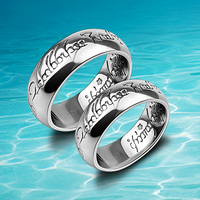 High Quality Silver 925 Thai Silver Vintage Personality Men And Women Ring Lovers Ring