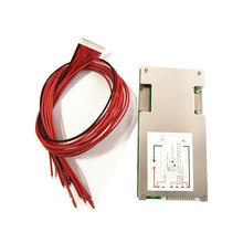 Placa de protección de batería de litio de 13S/14S 48V con disipador de calor de equilibrio, Placa de protección del mismo puerto con cables 45A BMS board