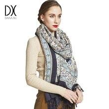 2019 moda ciepły zimowy szalik dla kobiet szalik luksusowej marki kaszmirowy duży szalik WrapWomen koc Pashmina szal muzułmański hidżab