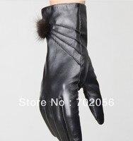 Vintage Women fur Genuine Goat leather gloves skin gloves LEATHER GLOVES #3117