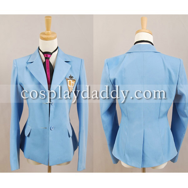 Ouran High School Host Club Boy School Uniform Blazer Blue Jacket Coat Tie Anime Halloween Cosplay Costume ...