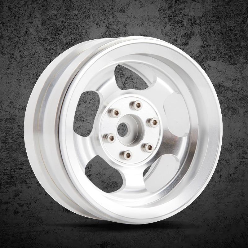 4pcs High quality metal 2.2inch wheels Hub for 1/10 RC Crawler Car Traxxas TRX4 Ford Bronco D90 D110 Axial Scx10 90046 RC4WD 4pcs rc crawler 1 10 wheel rims beadlock alloy 1 9 metal rims rock crawler wheel hub parts for rc car traxxas rc4wd scx10 cc01