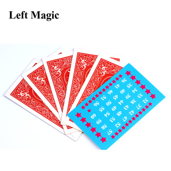 The Calculation Telepathy Card mentalism magie close up magic tricks illusion props trucos de magia toy C2033 image