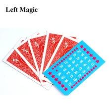 El cálculo telepatía tarjeta mentalismo magie cerca de trucos de magia ilusión accesorios trucos de magia juguete C2033