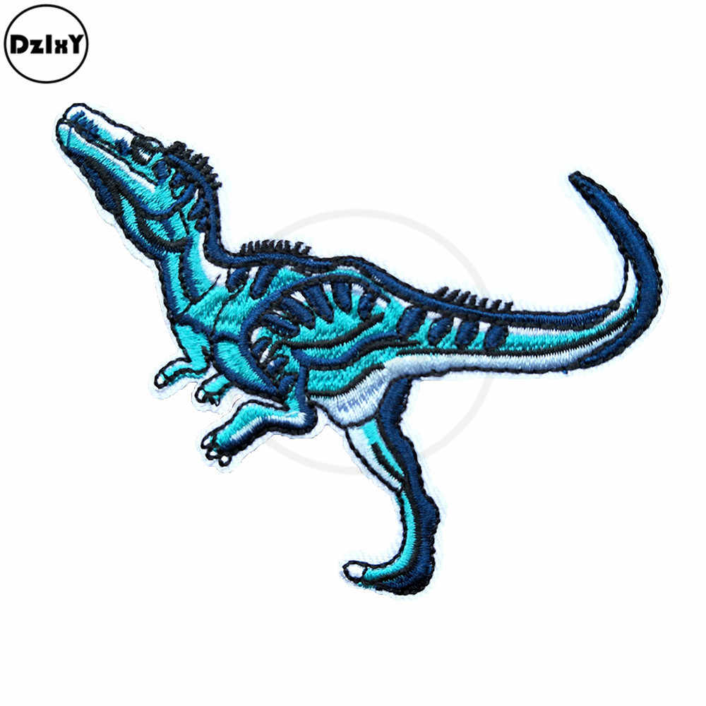 Tyrannical Dragons Embroidery Patches for Hoodies Needlework Sewing Stripes Clothes Badges Iron on Pride Dinosaur Stickers @F-34