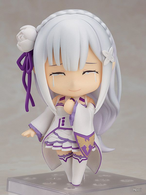 Anime Re : Life in a different world from zero 751 Emilia Kawaii Cute Nendoroid Mini Action Figure Toys 10cm