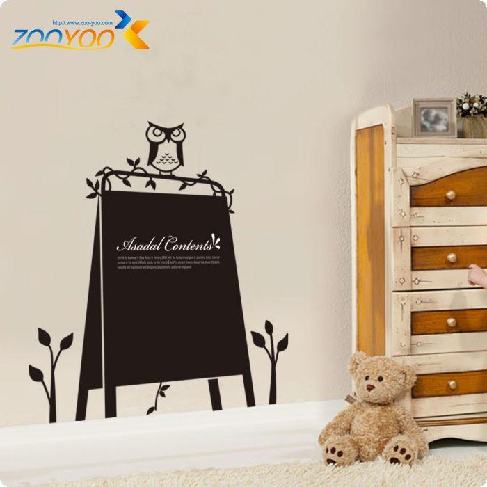 Kreative schwarz bord kindergarten wandaufkleber für kinderzimmer ZooYoo209  dekorative adesivo de parede abnehmbare vinyl wandtattoo(