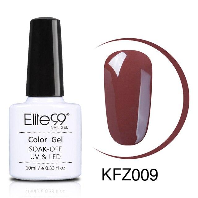 Elite99 10 ml Kaffee Braun Series Gel Polish Nagel Gel Soak Off Primer UV Gel Polnischen Semi Permanent Esmaltes Gel lack