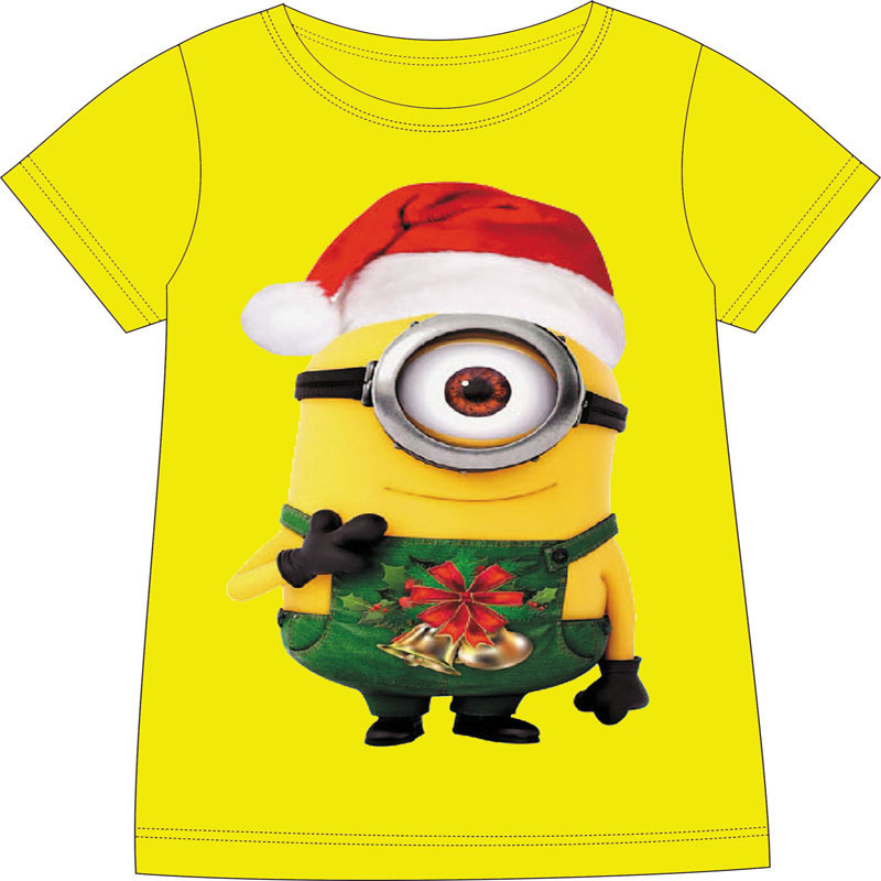 kids minion clothes children christmas clothing baby minions t shirt girls boys christmas minions t shirt for 2 10 years old in t shirts from mother kids - Minion Christmas Shirt