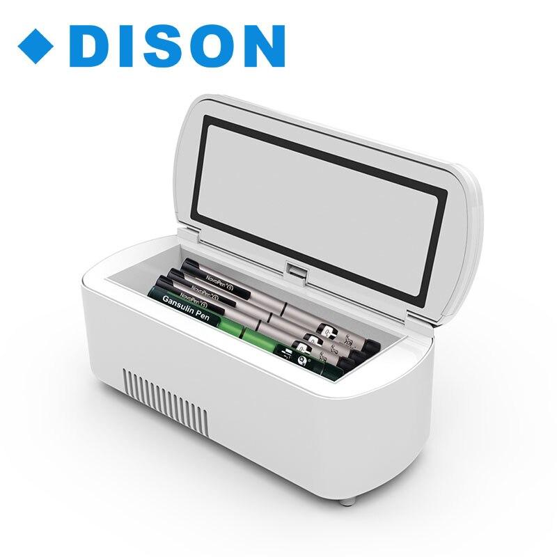 Auto di Viaggio Portatile Medicina Congelatore Insulina Per Diabetici di Raffreddamento Mini Frigo Caso